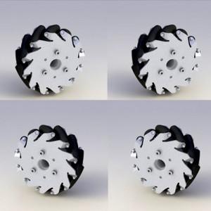 NEX-14193BR 127mm 알루미늄 메카넘휠 셋트(4pcs)