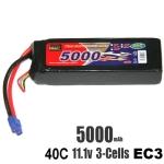 신제품 EP Power 5000mAh 11.1V 40C EC3잭 리튬폴리머 배터리 (3셀 고속주행용)