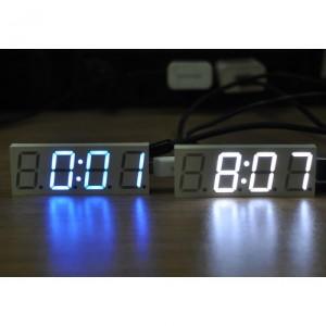 [화이트] 자동차 디지털 LED 전자 시계 모듈