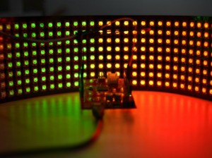 8x32 RGB LED Matrix w/ WS2812B - DC 5V